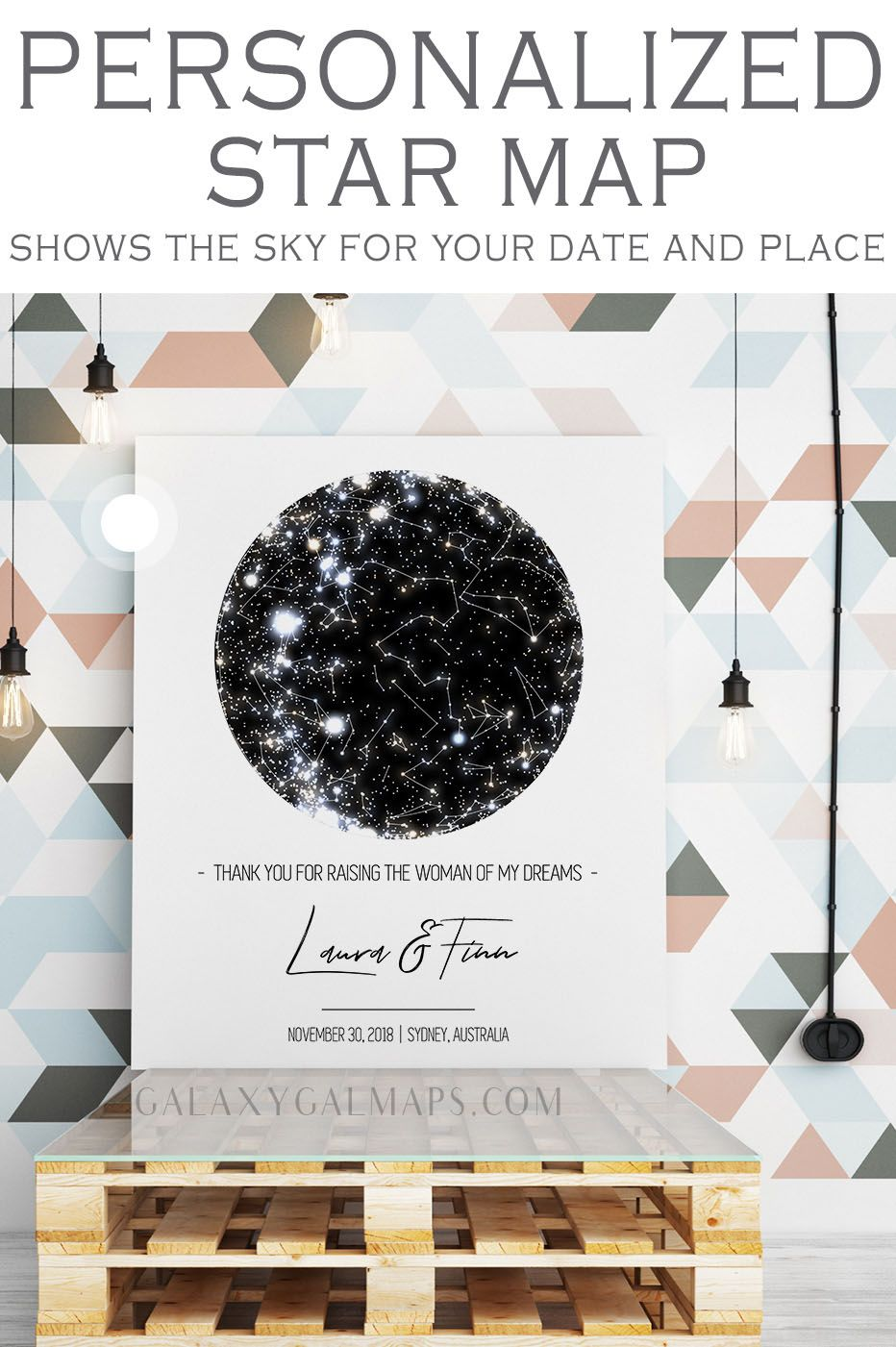 Custom Star Map For That Special Date 1st Anniversary Gift Custom Personalise Gift For Graduate Wed Valentine Gift For Dad Star Map 1st Anniversary Gifts