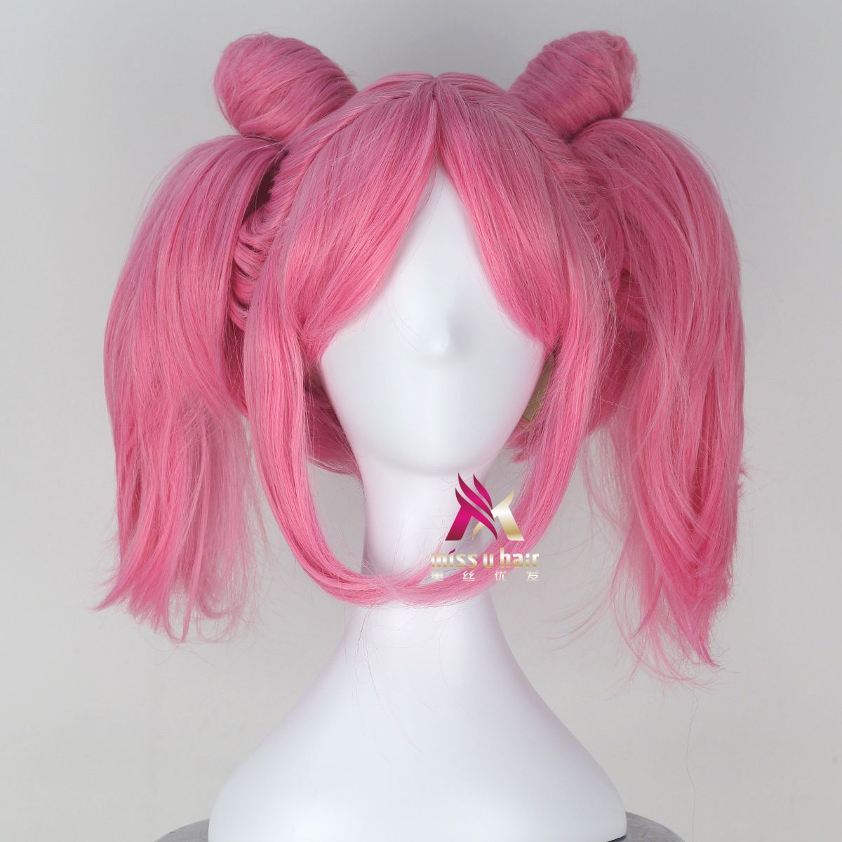 Sailor Moon Chibi Usa Girls Short Straight Pink Game Cosplay Wig