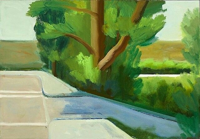 James Weeks (American, 1922–1998), Street in Presidio, 1966. Acrylic on canvas, 36 x 51 in. (91.4 x 129.5 cm.)