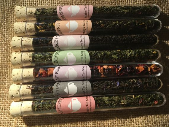 Herbal Tea, Loose leaf Tea, Tea Gift Set, Test tube teas, Sample ...