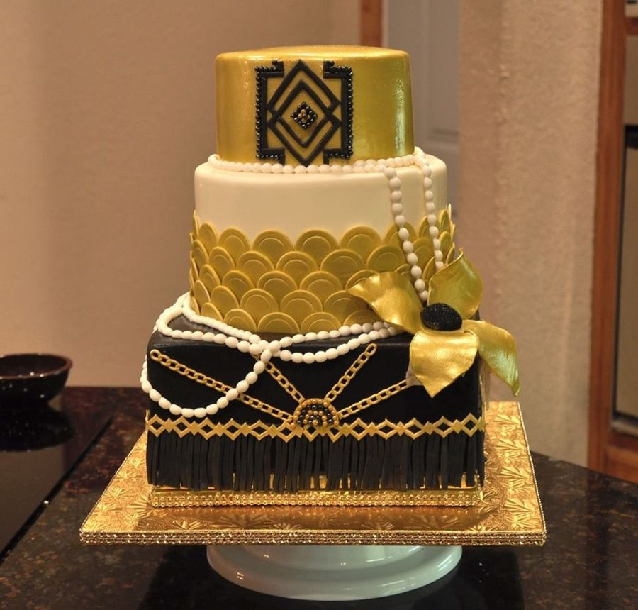 great gatsby cake great gatsby themed cake deco style with gold 4600