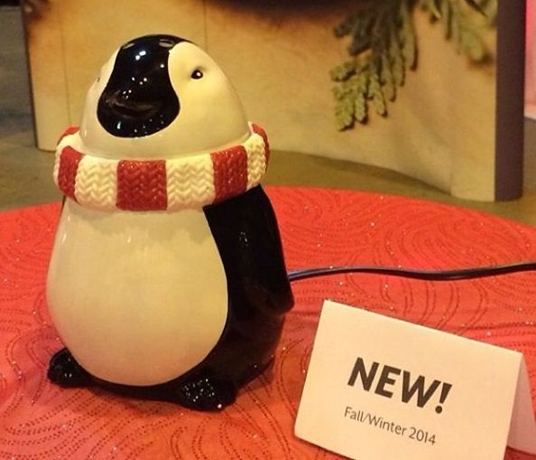Tux The Penguin Scentsy Holiday Christmas Warmer for 2014 $35 + tax go to www.flamelesswonderland.scentsy.us  to order yours ... available starting October 1st 2014
