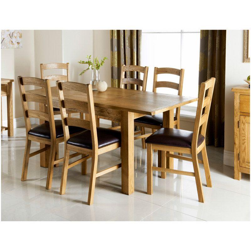 Wiltshire Oak Dining Set 7pc Oak Dining Sets Oak Dining Room
