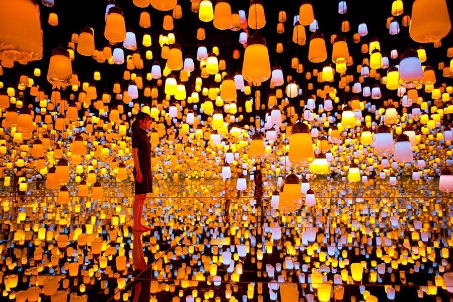 Forest Of Resonating Lamps Courtesy Teamlab Tokyo Museum Digital Art Gallery Art Museum