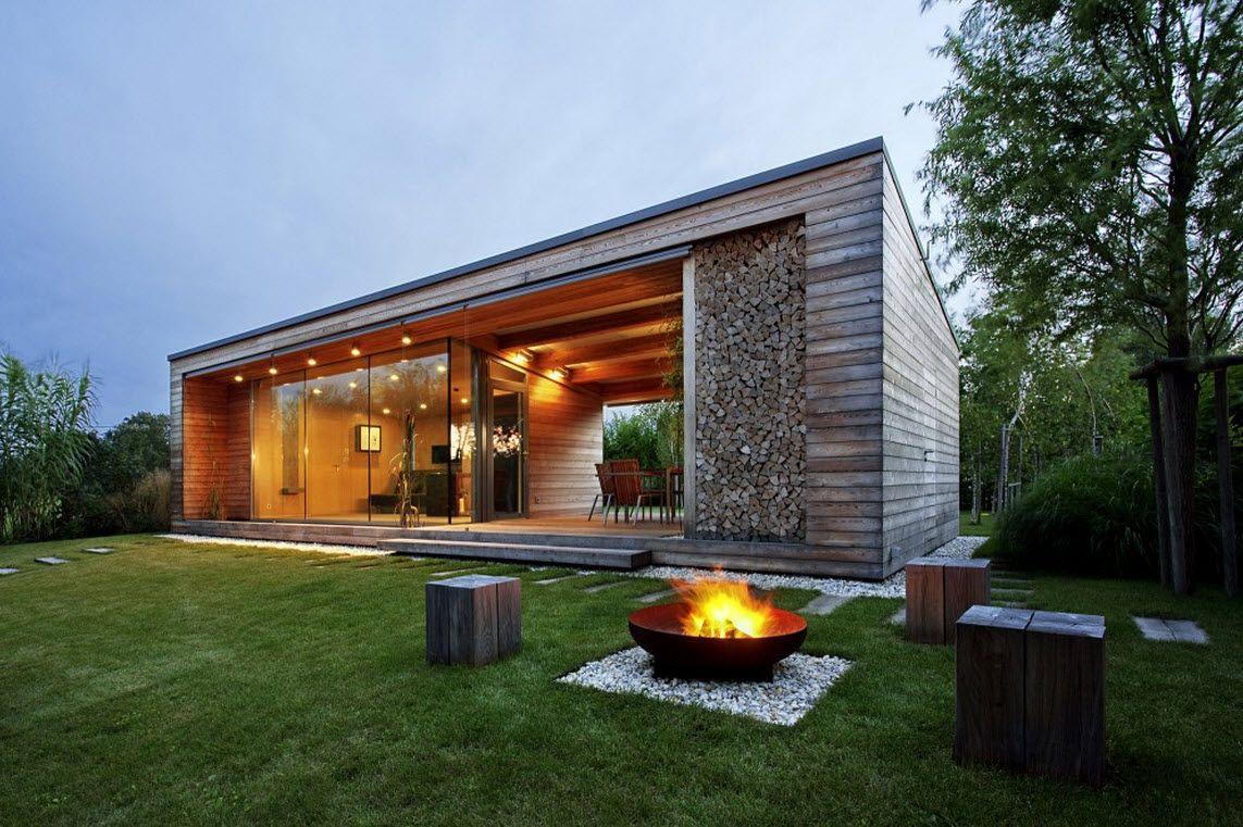 Casas De Campo Modernas Dise O Moderna Casa En Madera Y Piedra Construye Hogar Terraza