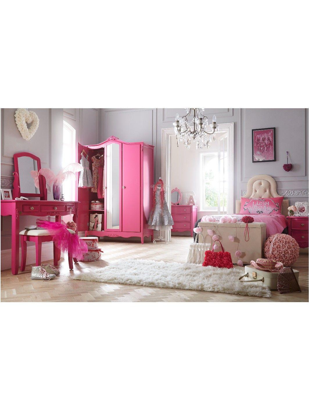 Princess Bedroom Furniture Uk Laurence Llewelyn Bowen Bonjour Boudoir 3 Door Kids Wardrobe