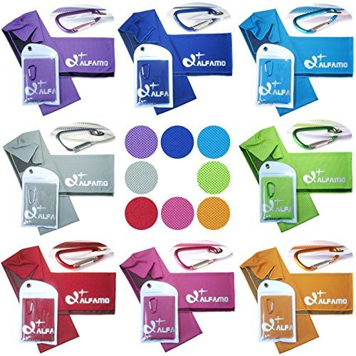 Alfamo Cooling Towel For Sports Workout Fitness Gym Yoga