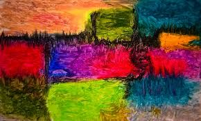 Image result for abstract oil pastel drawings