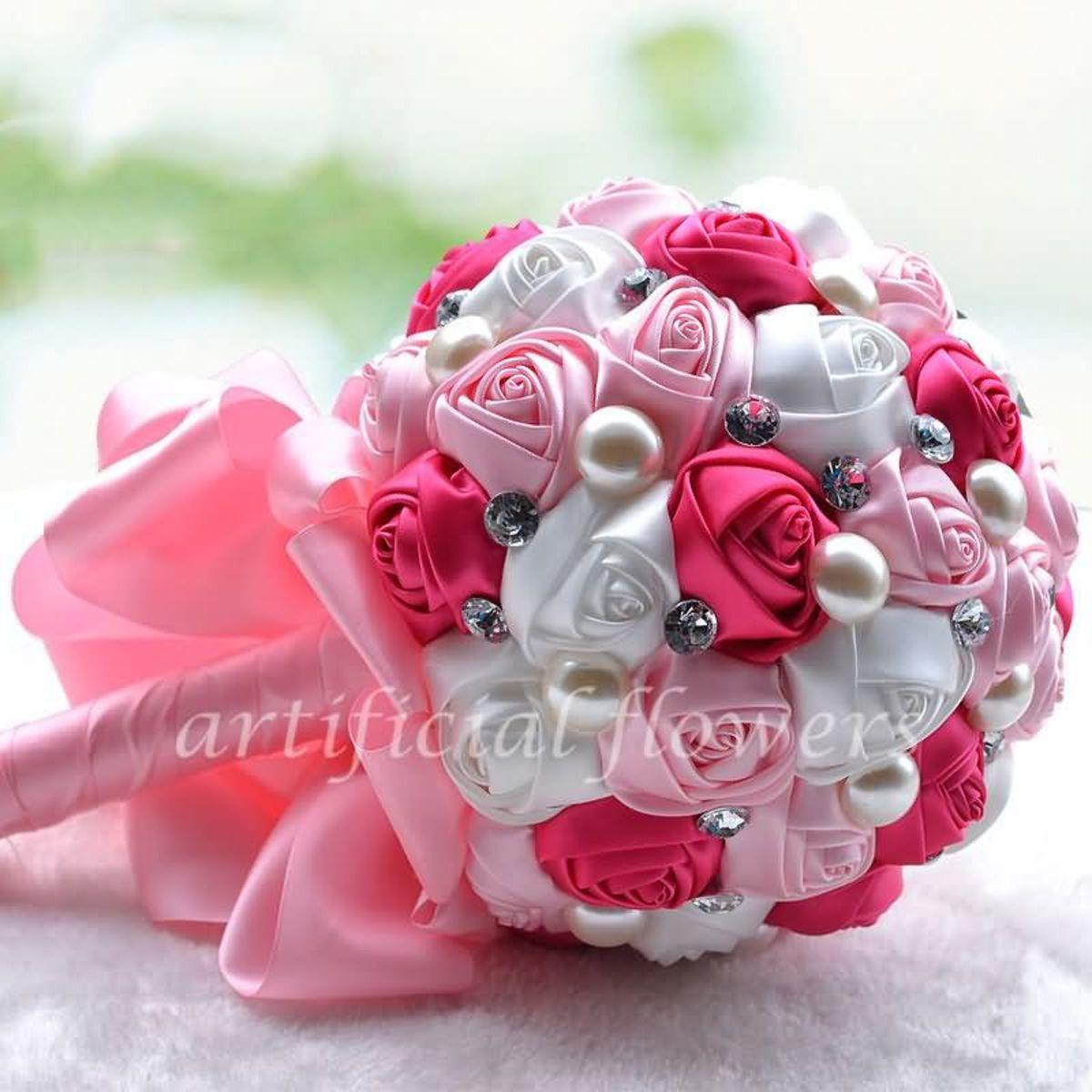 Diy Flower Fake Silk Wedding Flowers Artificial Bridal Bouquets ...