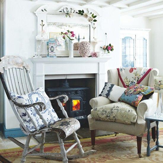 Shabby chic Wohnzimmer Wohnideen Living Ideas Interiors Decoration - landhaus wohnzimmer