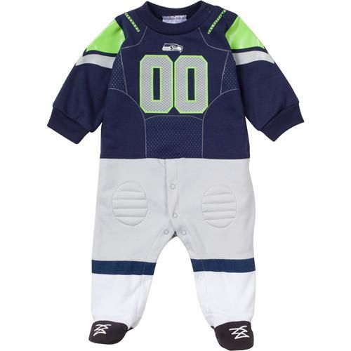 017d2ce7 Official Seattle Seahawks Baby Uniform Sleeper | Seattle Seahawks ...