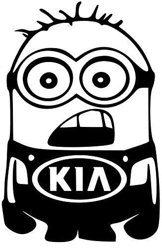 Kia Sorento Soul Minion Vinyl White Sticker 5 Width By