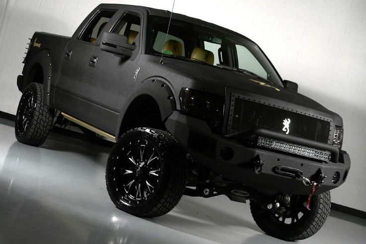 2017 Lifted Matte Black Ford Truck