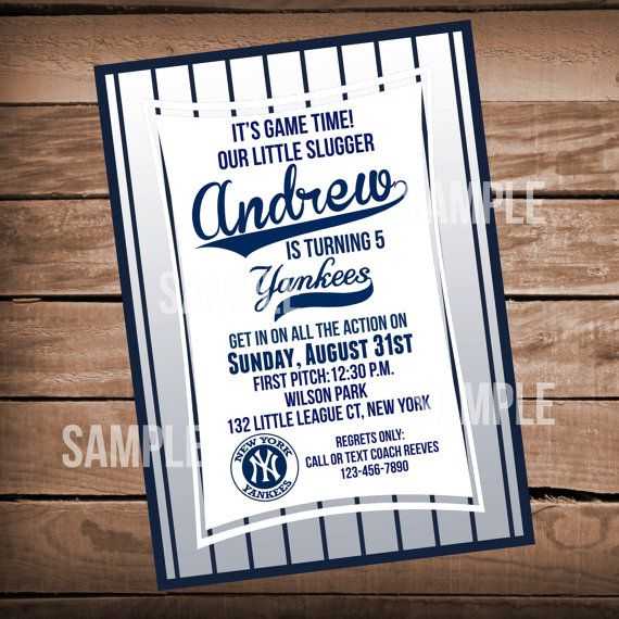 New York Yankees Birthday Invitation by WeAreHavingaParty on Etsy ... 383d844118d