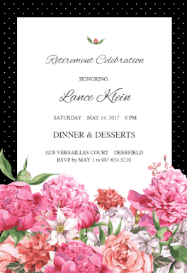 Vintage Vibe  Retirement Invitations    Invitation