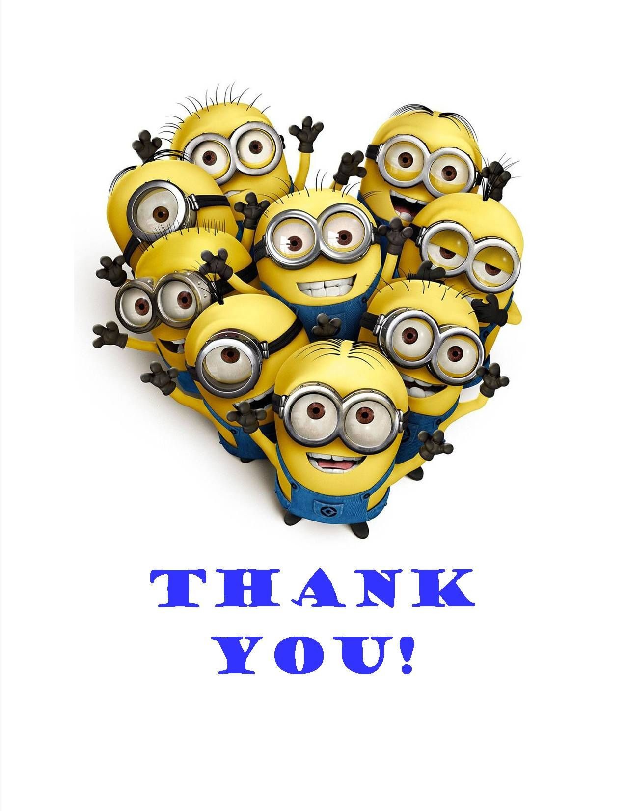 Minion themed Thank You party invitation Teen Prize Ideas