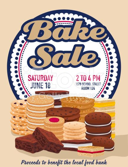 Bake sale poster template There are stacks of assorted cookies - bake sale flyer