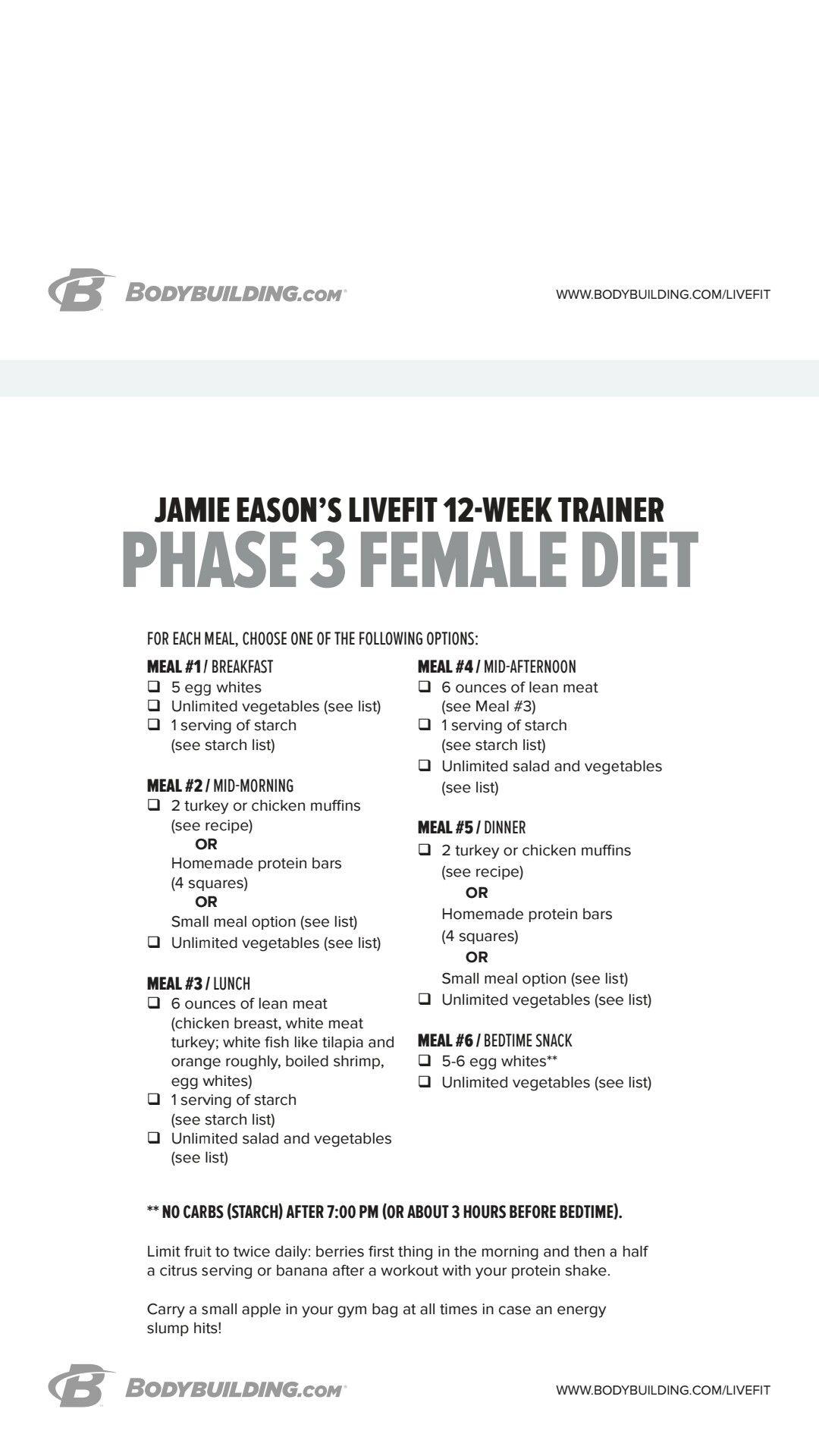 3 phase diet plan