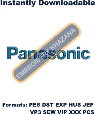 Panasonic Logo Embroidery design
