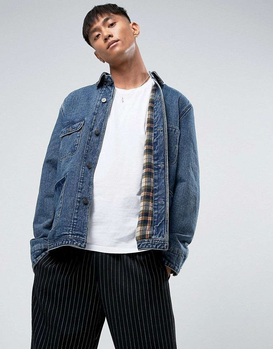 Buy Navy Asos Denim jacket for men at best price. Compare Jackets prices  from online stores like Asos - Wossel Global