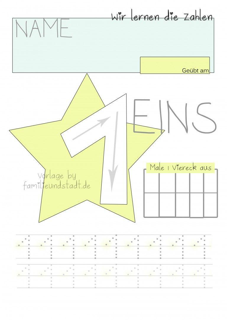 Wir üben die Zahlen 1-5 | Pinterest | Zahlen lernen, Vorschulübungen ...