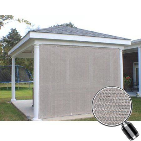 Smoke Grey Sun Shade Privacy Panel With Grommets On 2 Sides For Patio Awning Window Pergola Or Gazebo 6 X 4 Walmart Com Outdoor Pergola Patio Shade Pergola Attached To House