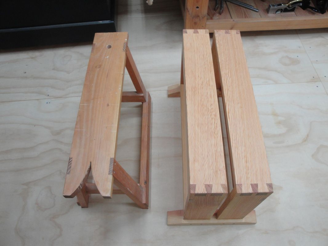 A Traditional Saw Bench And A Smarter Split Top Saw Bench Wood Woodworking Bench Woodworking Workshop