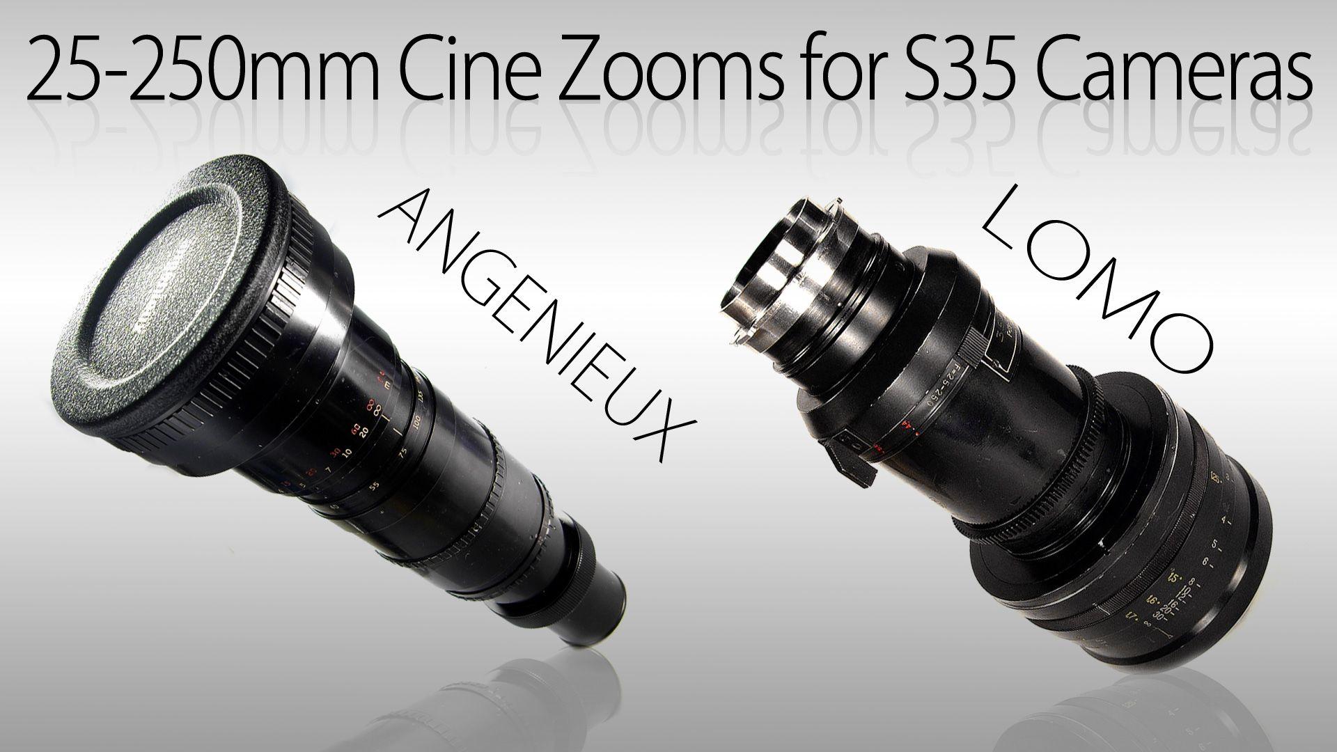 25 250mm Cine Zooms For S35 Cameras Vintage Lenses For Video Vintage Lenses Vintage Cameras Camera