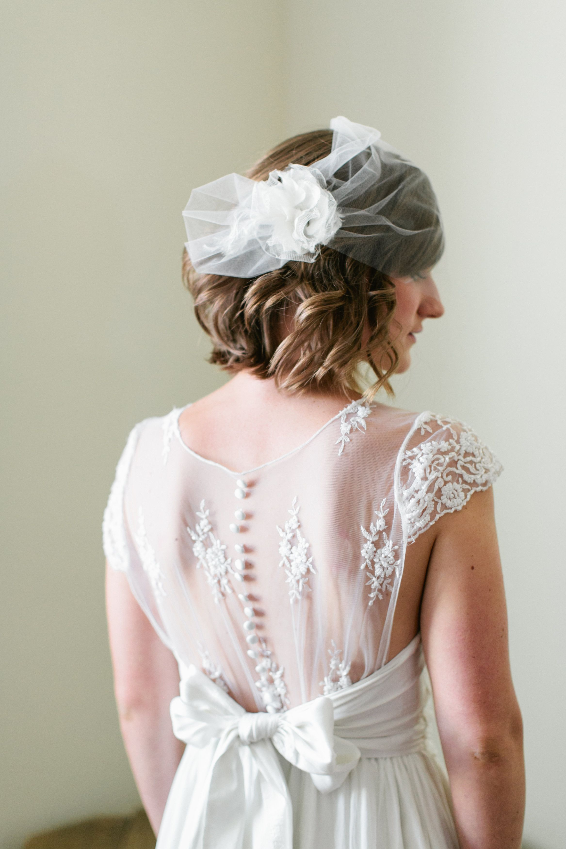Loved our Bride Jens cute bob haircut that complemented the back of ...