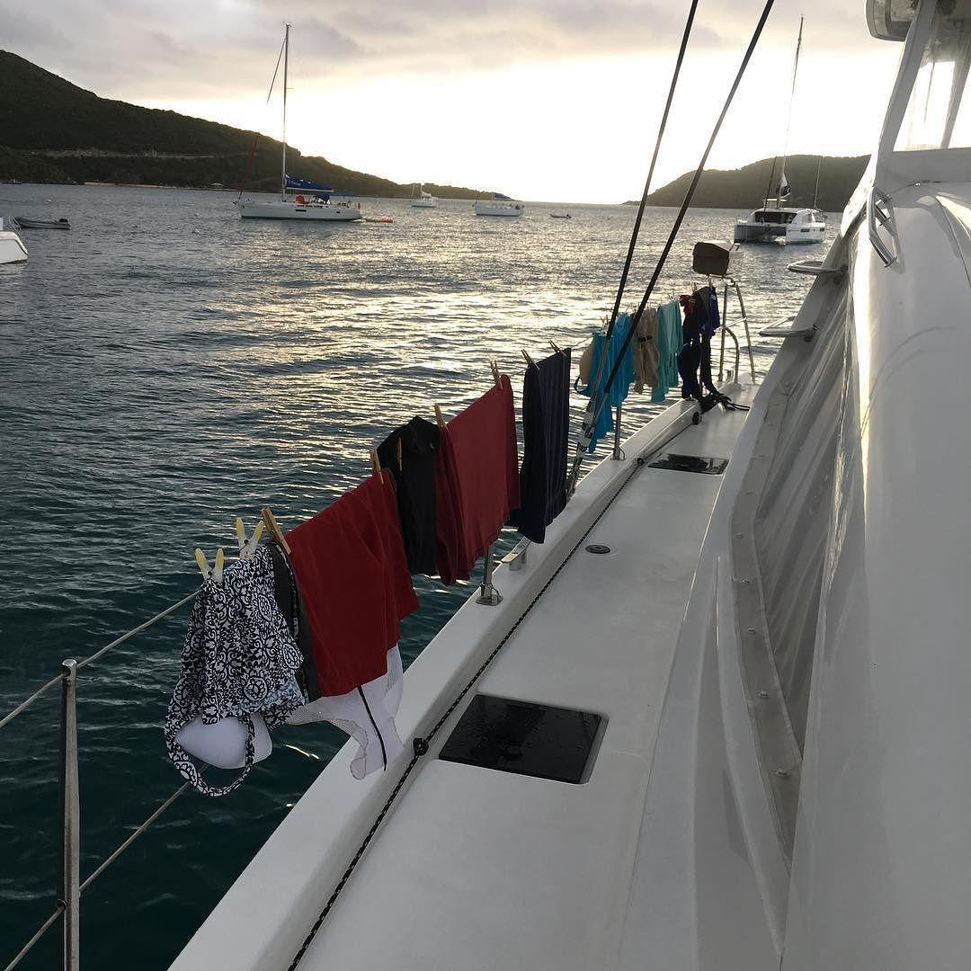 Clothesline #clothesline #sailboat @virgingorda by carycochrane