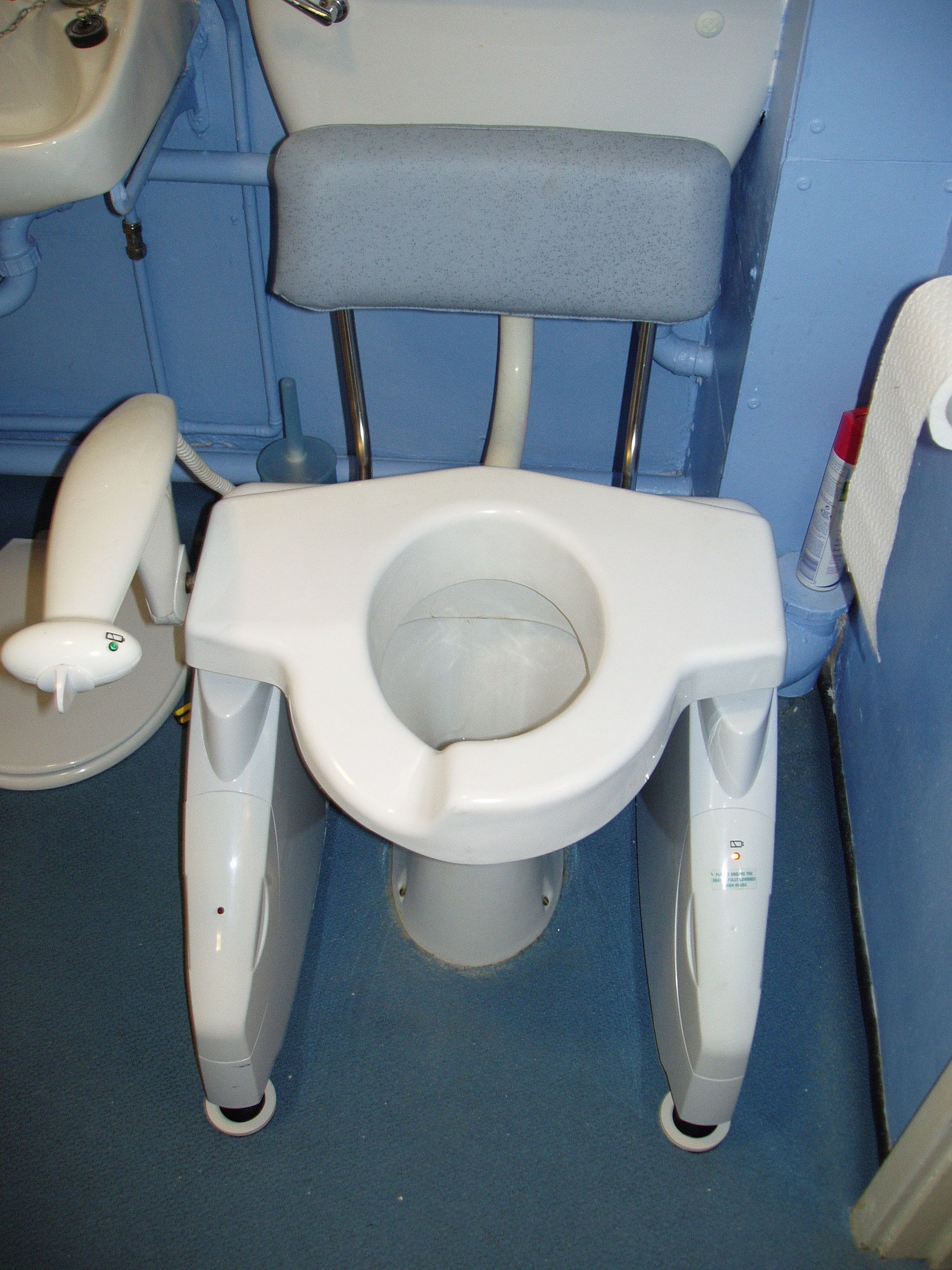 Custom toilet seat for leg length difference | Disability equipment ...