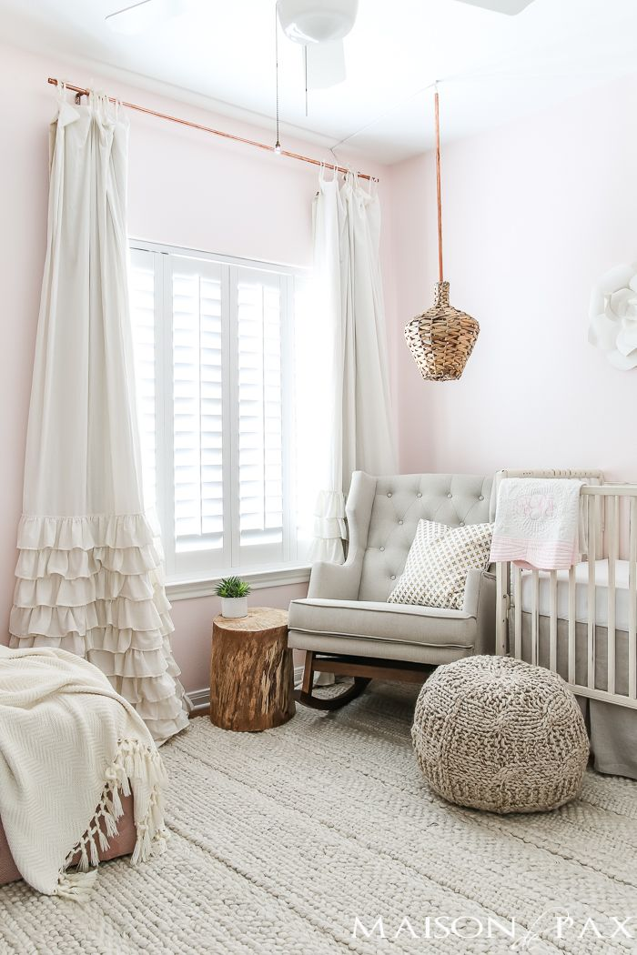 Blush Nursery With Neutral Textures Baby Girl Nursery
