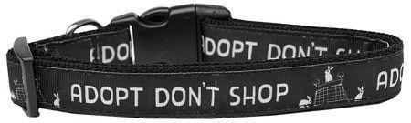 Adopt Don't Shop Nylon Dog Collar Medium