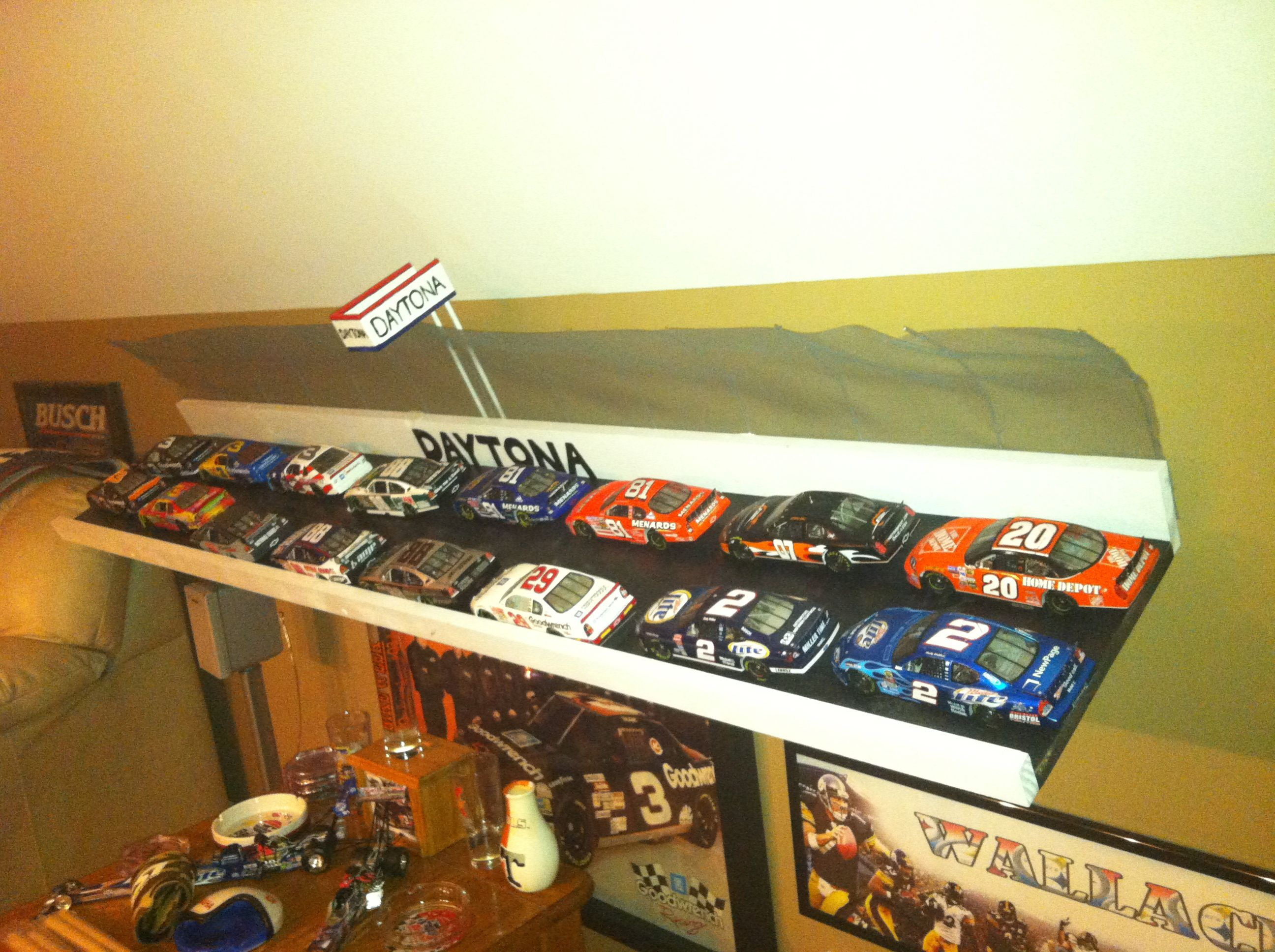 A Diy Race Track For The Man S Cave Man Cave Home Bar
