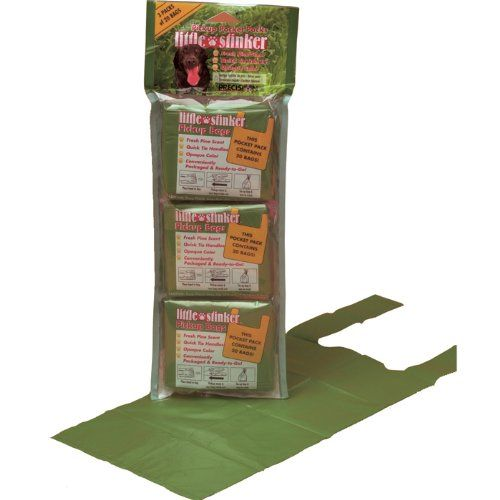 $8.00-$3.74 Precision Pet Products Little Stinker Pickup Pocket Packs for Dogs, 3-Pack, 20 bags per Pack, Opaque Green - Pick Up Bag are Pefect for Walks, Backyards, Dog Parks, Traveling and General Household Use http://www.amazon.com/dp/B0006L0X7S/?tag=pin2pet-20