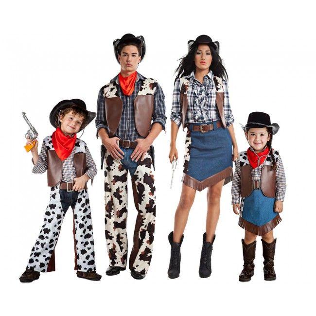 Grupo Vaqueros Salvaje Oeste disfraces carnaval