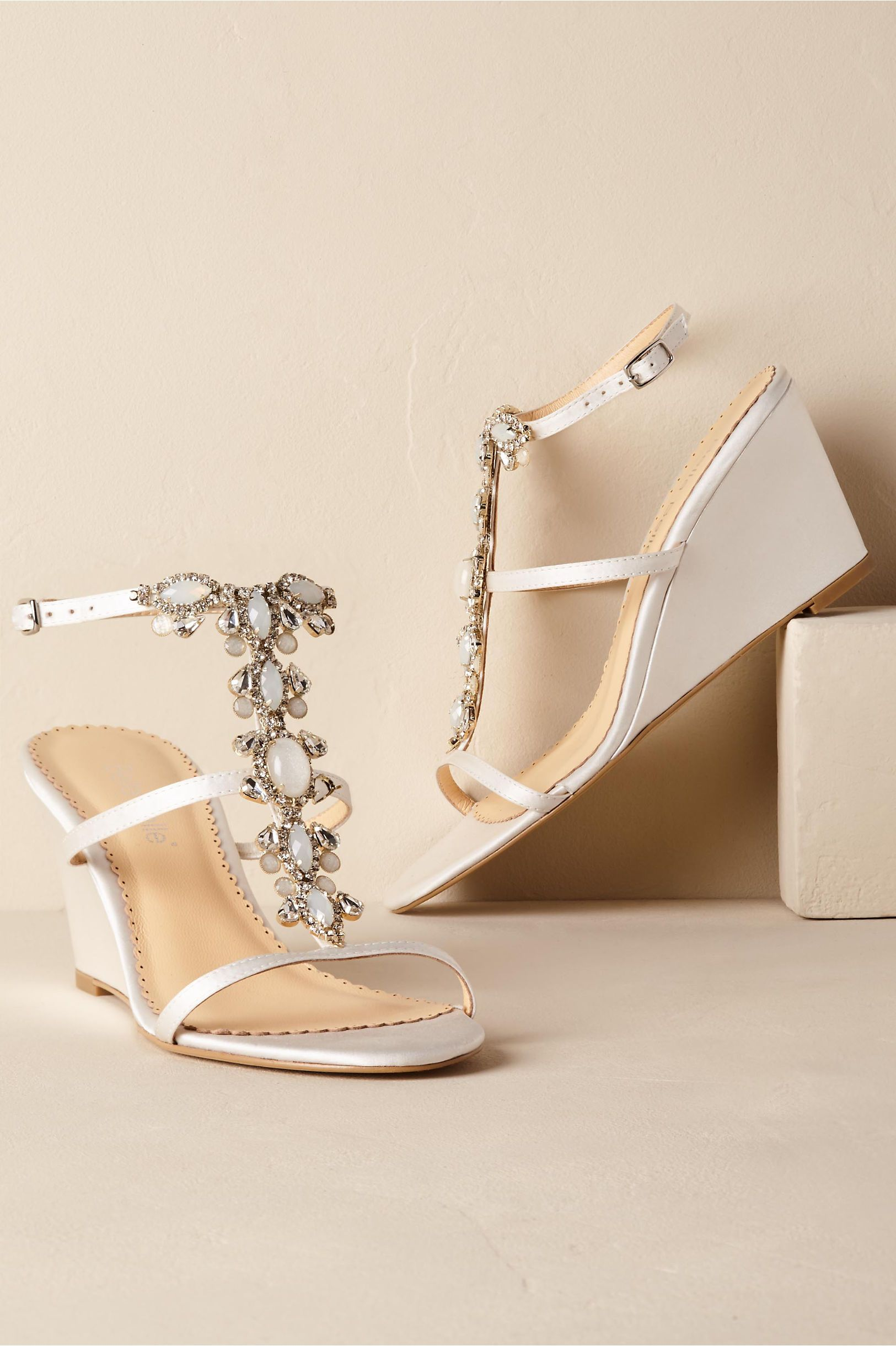 2a997951d1d3 ... wedding day look! Courtesy of BHLDN . BHLDN s Bella Belle Celia Wedges  in Ivory