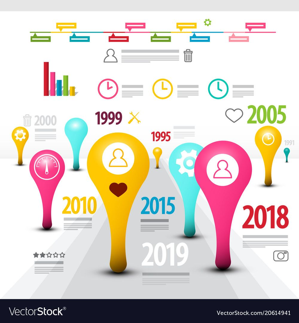 Creative timeline infographic template modern vector image