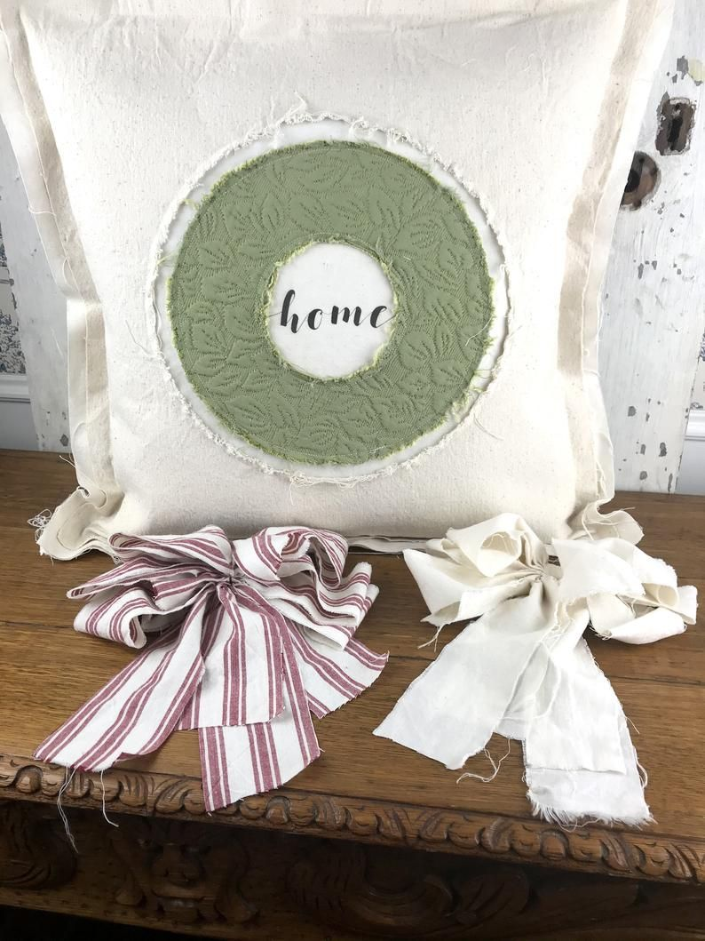 Farmhouse Wreath Pillow Home Pillow Canvas Pillow Etsy