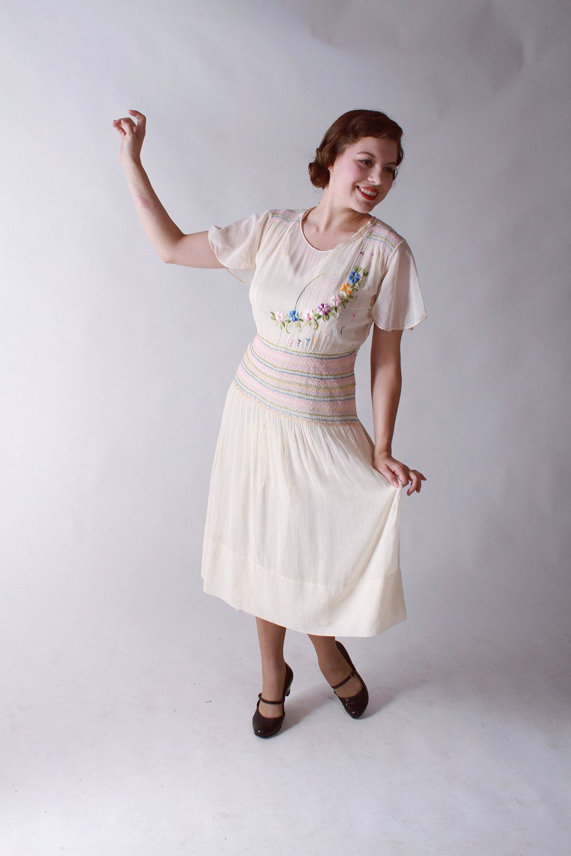 Vintage 1930s Dress Rare Hungarian Peasant Dress In Sheer Vintage 1930s Dress 1930s Dress Peasant Dress [ 1500 x 1000 Pixel ]