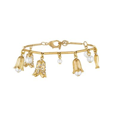 Bellflower + Pearl Drop Bracelet | Chloe + Isabel