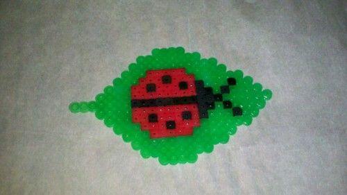 a229f5fc8 Perler bead lady bug leaf