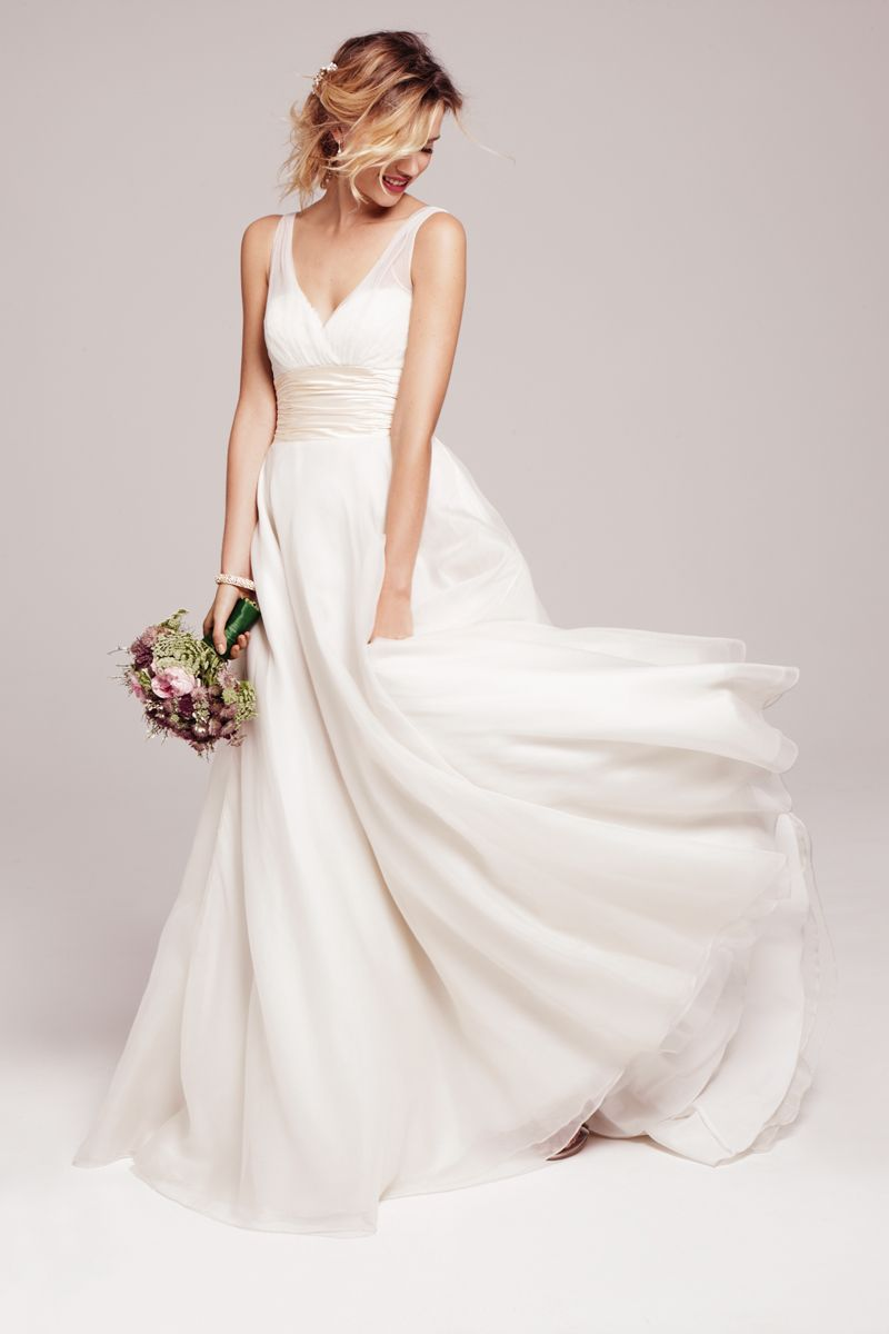 Soft, romantic \'Emmanuelle\' gown by Anne Barge available at ...