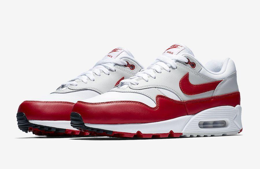 9d4e779a9bc Nike Air Max 90 1 OG White University Red AJ7695-100 - Sneaker Bar Detroit