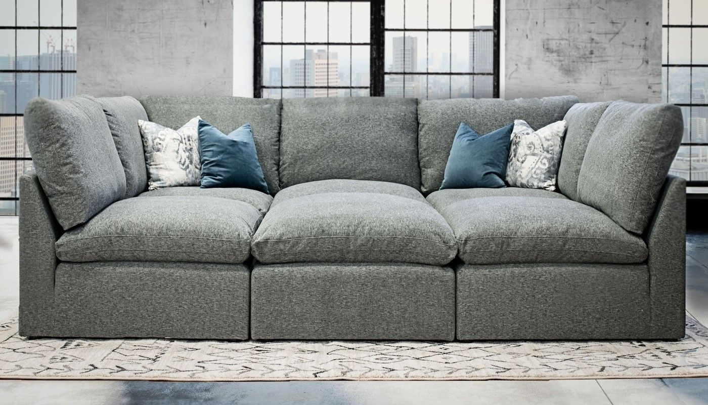 Home Zone Sofa Cloud 6 Piece Sectional In 2019 Sofas Living Room Furniture