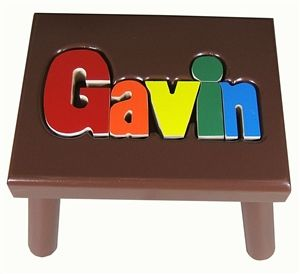 Stupendous Personalized Puzzle Step Stool Step Stools For Boys Onthecornerstone Fun Painted Chair Ideas Images Onthecornerstoneorg