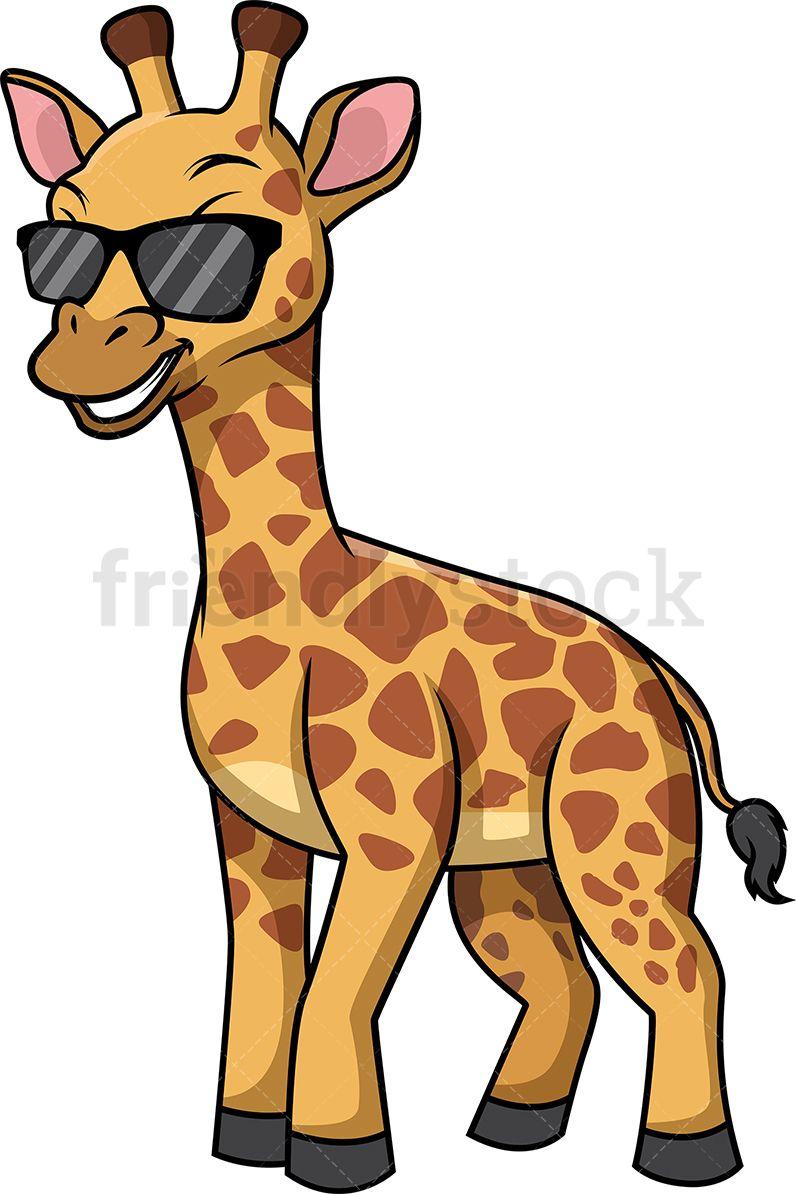 Giraffe With Sunglasses Cartoon Clipart Vector Friendlystock Cartoon Clip Art Giraffe Clip Art