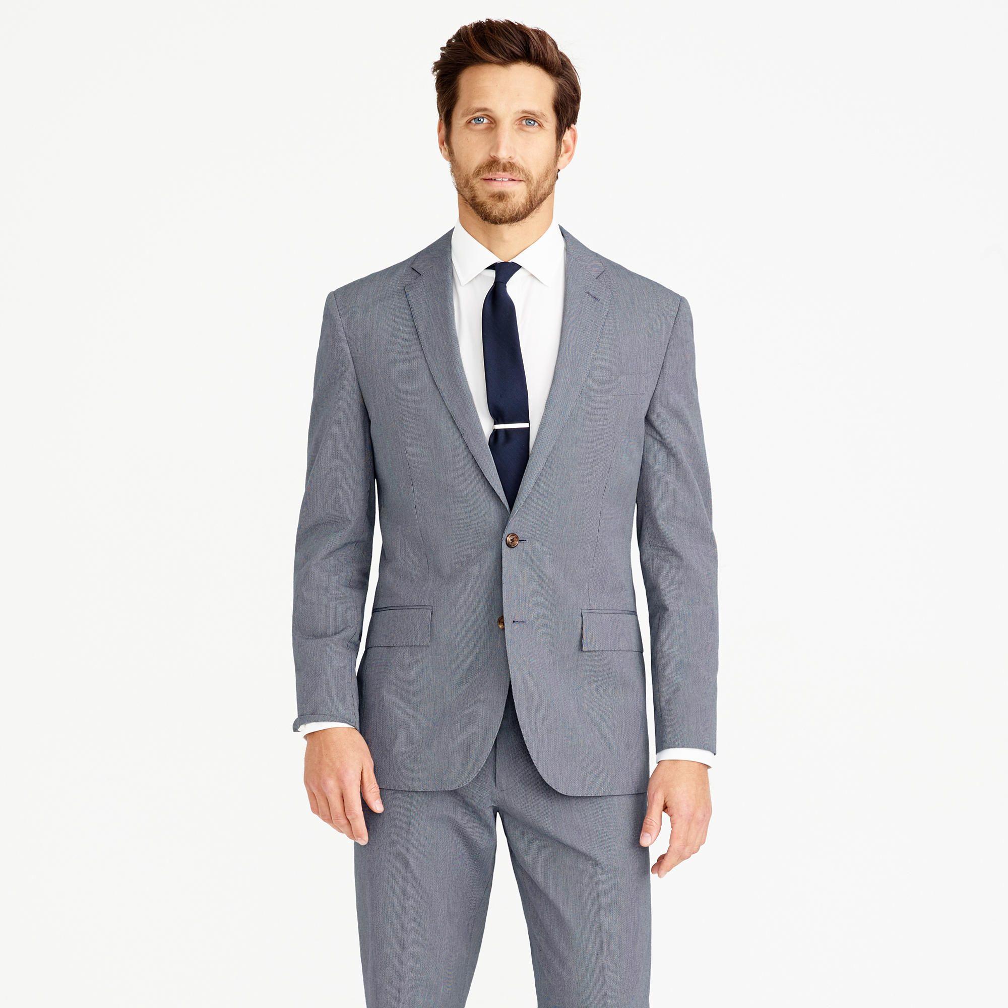 ecce6cfc3e50f Crosby suit jacket in Italian microstripe cotton - suits -Men- J.Crew