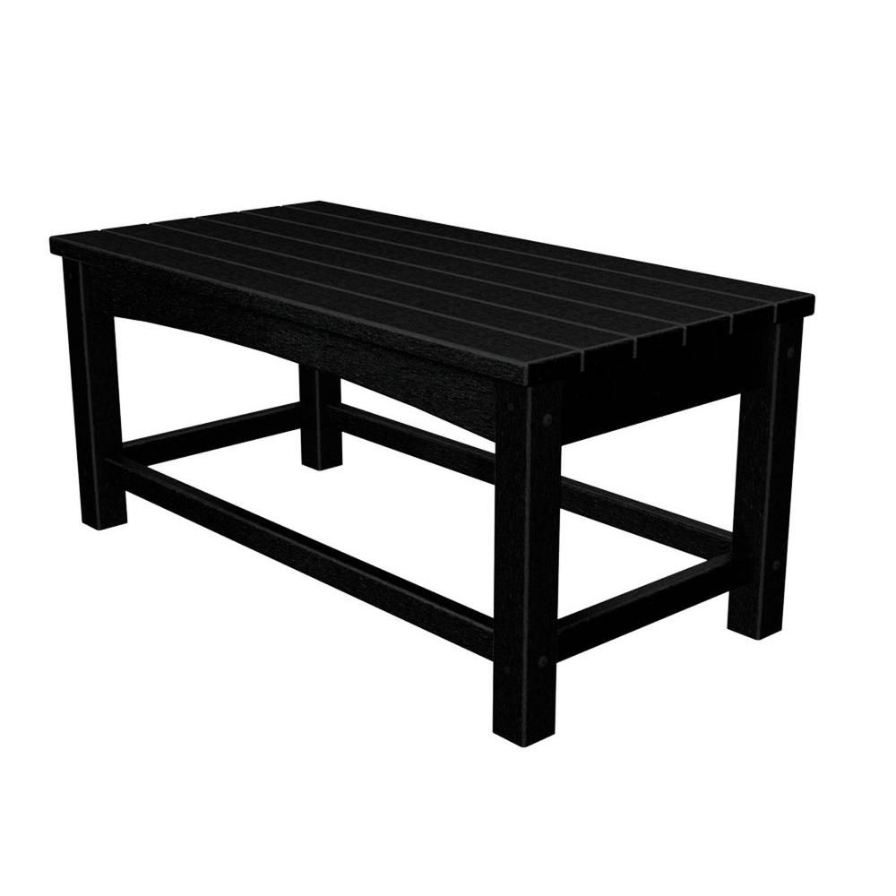 POLYWOOD Club Black Patio Coffee Table