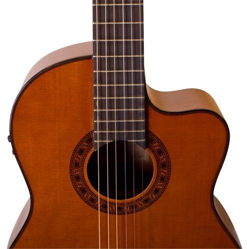 Valencia vg 190ce acoustic electric classical guitar high for Luthier valencia